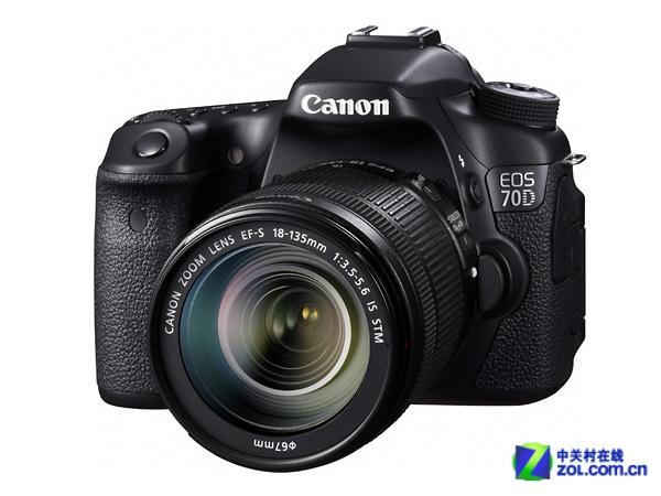 搭载18-135mm镜头 佳能70D套机7299元
