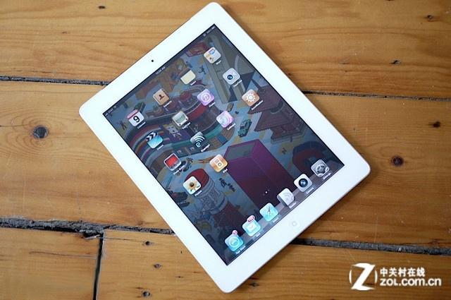 iPad 2白色 正面图